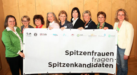 """Aktion """"Spitzenfrauen fragen Spitzenkandidaten"""